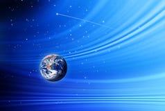 Tierra en espacio Imagen de archivo libre de regalías