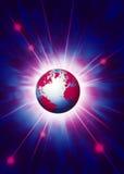 Tierra en espacio exterior stock de ilustración