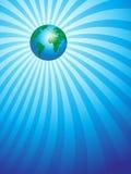 Tierra en fondo del rayo Stock de ilustración
