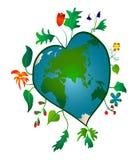 Tierra en forma de corazón Foto de archivo libre de regalías