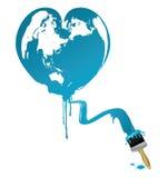 Tierra en forma de corazón stock de ilustración