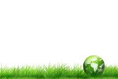 Tierra en la hierba, concepto de la ecología Imagen de archivo