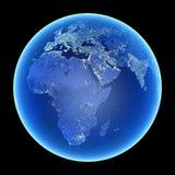 Tierra en la noche Fotografía de archivo