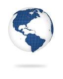 Tierra en la visión 3d. Norte y pistas de Suramérica. Fotos de archivo
