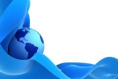 Tierra en una onda azul libre illustration