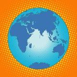 Tierra Eurasia África Australia la Antártida entre Asia y Europa Imagenes de archivo