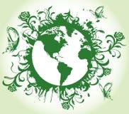 Tierra floral Imagen de archivo libre de regalías