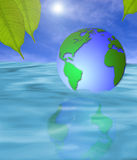 Tierra flotante Imagenes de archivo