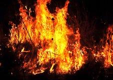 Tierra furiosa delante de ellos toda del fuego de los diversos colores Fotografía de archivo