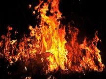 Tierra furiosa delante de ellos toda del fuego de los diversos colores Imágenes de archivo libres de regalías