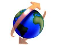 Tierra giratoria del planeta Imagen de archivo