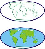 Tierra - globo Imagen de archivo libre de regalías