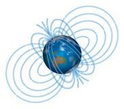 Tierra magnética Foto de archivo libre de regalías