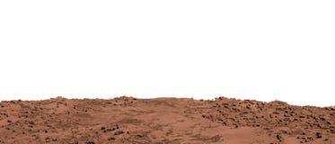 Tierra marciana aislada en blanco Fotos de archivo