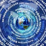 Tierra, palabras del negocio y dinero libre illustration