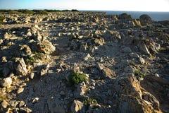 Tierra pedregosa del cabo Fotografía de archivo