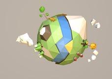 Tierra polivinílica baja Stock de ilustración