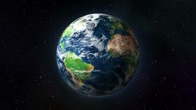 Tierra que gira en espacio libre illustration
