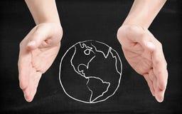Tierra que utiliza imagen de archivo libre de regalías