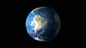 Tierra realista que gira lentamente alrededor de su eje ilustración del vector