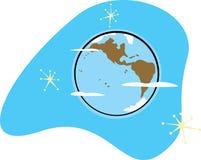 Tierra retra del planeta Foto de archivo libre de regalías