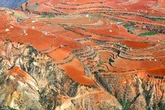 Tierra roja en Dong Chuan, China Imágenes de archivo libres de regalías