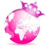 Tierra rosada ilustración del vector