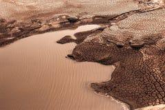 Tierra seca con el suelo quebrado Fotos de archivo libres de regalías