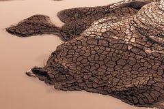 Tierra seca con el suelo quebrado Fotografía de archivo libre de regalías