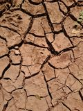 Tierra seca de la grieta Imagenes de archivo
