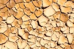Tierra seca y agrietada Foto de archivo libre de regalías