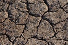 Tierra secada agrietada Foto de archivo libre de regalías