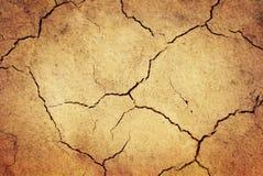 Tierra secada Grunge Fotografía de archivo