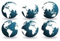 Tierra sobre continentes. Fotografía de archivo libre de regalías