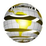 Tierra surrealista 3D del globo de la peladura imágenes de archivo libres de regalías