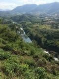 Tierra triangular a lo largo del río Mekong Imagen de archivo libre de regalías
