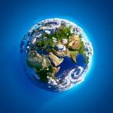 Tierra verdadera con la atmósfera Foto de archivo libre de regalías