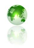 Tierra verde cristalina Imagen de archivo