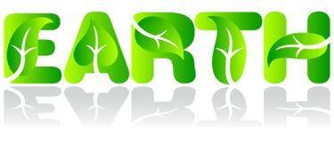 Tierra verde de la ecología imagen de archivo