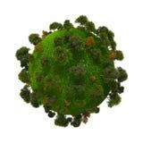 Tierra verde del planeta Imagen de archivo libre de regalías