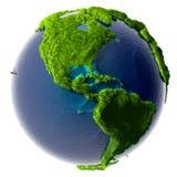Tierra verde del planeta Foto de archivo