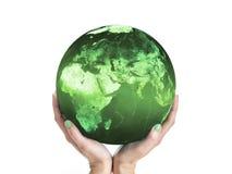 Tierra verde del planeta Fotos de archivo
