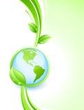 Tierra verde y hojas Imagenes de archivo