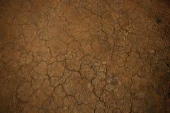 Tierra vieja del fondo, textura agrietada Foto de archivo libre de regalías