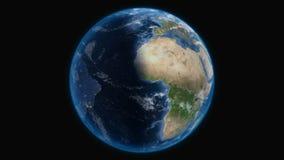 Tierra, visión desde el espacio exterior stock de ilustración