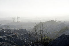 Tierra volcánica Fotos de archivo libres de regalías