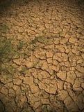 Tierra y ambiente de la sequía Foto de archivo