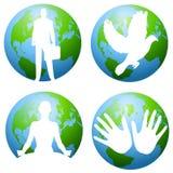 Tierra y arte de clip ambiental Foto de archivo