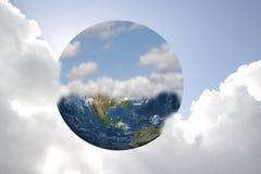 Tierra y cielo Fotografía de archivo