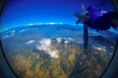 Tierra y cielo - visión desde un iluminador Fotografía de archivo